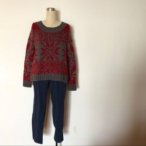 Free People - Chunky Knit Patterned Sweater